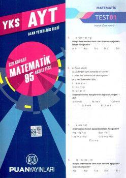Puan Yayınları YKS 2. Oturum AYT Matematik Çek Kopart 95 Akıllı Test