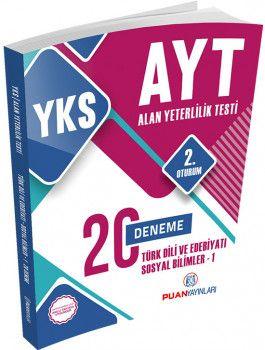 Puan Yayınları YKS 2. Oturum AYT Türk Dili ve Edebiyatı Sosyal Bilimler 1 Deneme 20 li