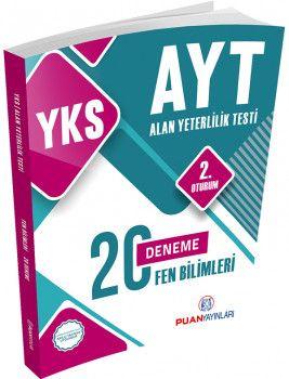 Puan Yayınları YKS 2. Oturum AYT Fen Bilimleri 20 Deneme