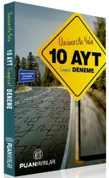 Puan Yayınları YKS 2. Oturum AYT Üniversite Yolu Sayısal 10 Deneme