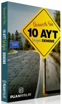 Puan Yayınları YKS 2. Oturum AYT Üniversite Yolu Eşit Ağırlık 10 Deneme