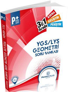 Puan YGS LYS Geometri Üçü Bir Arada Soru Bankası Puan Plus Serisi