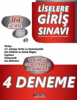 Reform Akademi Yayınları LGS 4lü Deneme