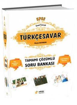 Rektör Yayınları  KPSS Lise Ön Lisans Türkçesavar Tamamı Çözümlü Bilgi Notlu Soru Bankası