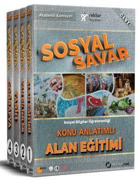 Rektör Yayınları 2018 ÖABT Sosyal Savar Konu Anlatımlı Modüler Set