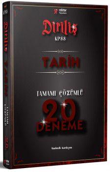 Rektör Yayınları KPSS Diriliş Tarih Tamamı Çözümlü 20 Deneme