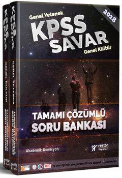 Rektör Yayınları KPSS Savar Genel Yetenek Genel Kültür Soru Bankası 2 Kitap