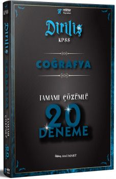 Rektör Yayınları 2018 KPSS DİRİLİŞ Coğrafya Tamamı Çözümlü 20 Deneme