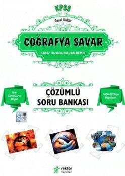 Rektör Yayınları KPSS Genel Kültür Coğrafya Savar Tamamı Çözümlü Soru Bankası