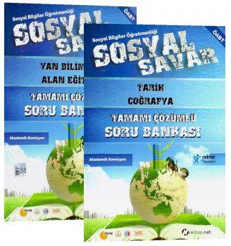 Rektör Yayınları ÖABT Sosyal Bilgiler Öğretmenliği Sosyal Savar Tamamı Çözümlü Soru Bankası 2 Kitap