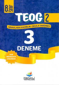 Renkli Yayınları 8. Sınıf TEOG 2 Deneme Sınavı 3 lü