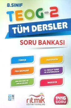 Ritmik Eğitim Yayınları 8. Sınıf TEOG 2 Tüm Dersler Soru Bankası