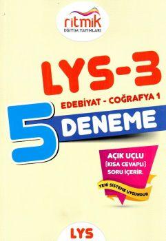 Ritmik Eğitim Yayınları LYS 3 Edebiyat Coğrafya 1 5 Deneme