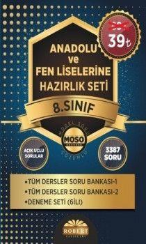 Robert Yayınları 8. Sınıf Anadolu ve Fen Liselerine Hazırlık Soru Bankası 3 lü Set Class Serisi