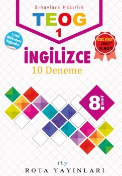 Rty Rota Yayınları 8. Sınıf TEOG 1 İngilizce Deneme