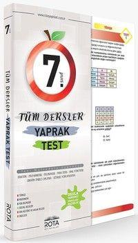Rty Rota Yayınları 7. Sınıf Tüm Dersler Yaprak Test