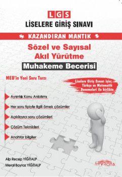 RTY Rota Yayınları 8. Sınıf LGS Kazandıran Mantık Sözel ve Sayısal Akıl Yürütme Muhakeme Becerisi Soru Bankası