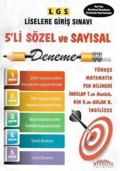 RTY Rota Yayınları 8. Sınıf LGS Sözel Sayısal 5 li Deneme