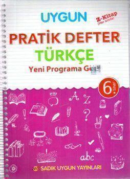 Sadık Uygun Yayınları 6. Sınıf Türkçe Pratik Defter