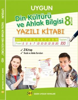 Sadık Uygun Yayınları 8. Sınıf Din Kültürü ve Ahlak Bilgisi Yazılı Kitabı