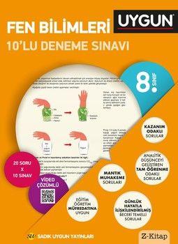 Sadık Uygun Yayınları 8. Sınıf Fen Bilimleri 10 lu Deneme Sınavı