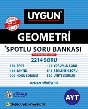 Sadık Uygun Yayınları AYT Geometri Spotlu Soru Bankası