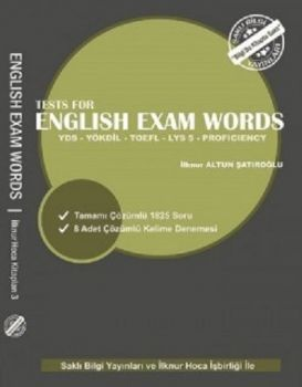 Saklı Bilgi Yayınları YDS YÖKDİL TOEFL LYS 5 Tests for English Exam Words