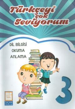 Salan Yayınları 3. Sınıf Türkçeyi Çok Seviyorum Dil Bilgisi Okuma Anlama