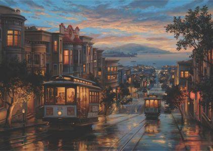 San Francisco Sokakları Cable Car Heaven 1500 Parça Yapboz