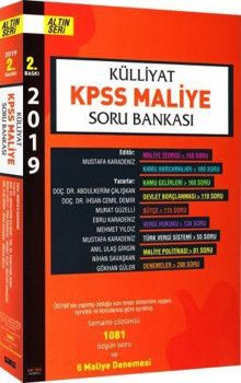 Savaş Yayınları 2019 KPSS Maliye Külliyat Soru Bankası