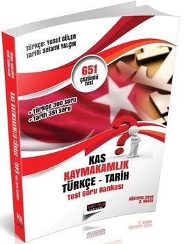 Savaş Yayınları KAS Kaymakamlık Sınavı Türkçe Tarih Test Soru Bankası