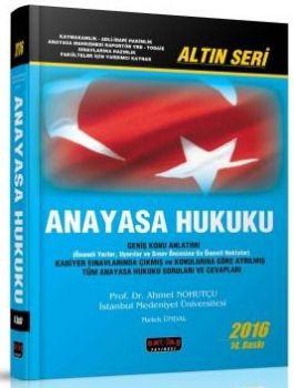 Savaş Yayınları 2016 Anayasa Hukuku Altın Seri Konu Anlatımlı Ahmet Nohutçu