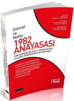 Savaş Yayınları Güncel ve Notlu 1982 Anayasası