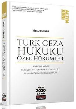 Savaş Yayınları Türk Ceza Hukuku Özel Hükümler Altın Seri
