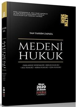 Savaş Yayınları Medeni Hukuk Konu Anlatımı Altın Seri