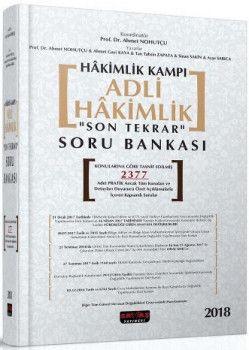Savaş Yayınları Hakimlik Kampı Adli Hakimlik Son Tekrar Soru Bankası