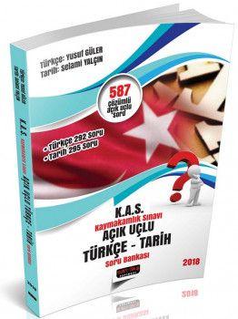 Savaş Yayınları 2018 Kaymakamlık Sınavı Açık Uçlu Türkçe Tarih Soru Bankası