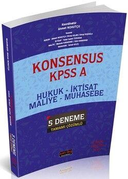 Savaş Yayınları KPSS A Hukuk İktisat Maliye Muhasebe KONSENSUS 5 Deneme Tamamı Çözümlü