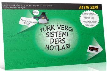 Savaş Yayınları Türk Vergi Sistemi Ders Notları Altın Seri