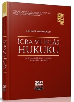 Savaş Yayınları İcra ve İflas Hukuku Konu Anlatımı Altın Seri
