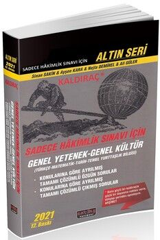 Savaş Yayınları Sadece Hakimlik Sınavı İçin Kaldıraç GY-GK Soru Bankası