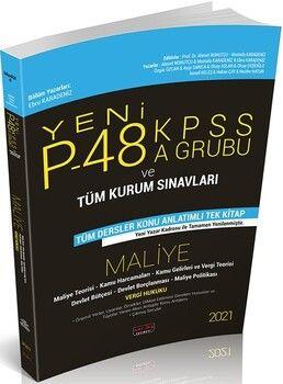 Savaş Yayınları2021P48 KPSS A Grubu ve Tüm Kurum Sınavları Maliye Konu Anlatımlı
