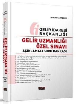 Savaş Yayınları Gelir Uzmanlığı Özel Sınavı Açıklamalı Soru Bankası