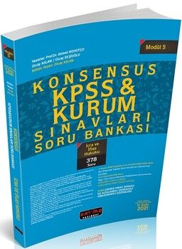 Savaş Yayınları 2021 KPSS İcra ve İflas Hukuku KONSENSUS Soru Bankası