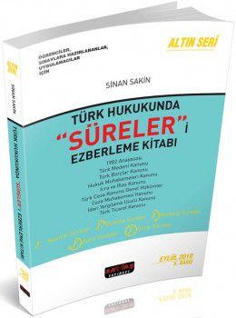 Savaş Yayınları Türk Hukukunda Süreleri Ezberleme Kitabı