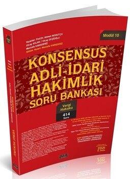 Savaş Yayınları KONSENSUS Adli İdari Hakimlik Vergi Hukuku Soru Bankası Modül 10