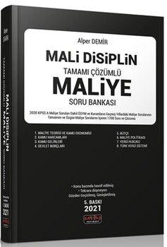 Savaş Yayınları Mali Disiplin Tamamı Çözümlü Maliye Soru Bankası
