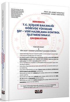 Savaş YayınlarıSon Nokta T.C. İçişleri Bakanlığı GYS Şef-Veri Hazırlama Kontrol İşletmeni Sınavı Çalışma Kitabı