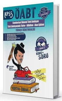 SÜPER FİYAT Yekta Özdil 2019 ÖABT Türkçe Cumhuriyet Dönemi Türk Edebiyatı Konu + Soru 4. Kitap Yol Arkadaşım Serisi