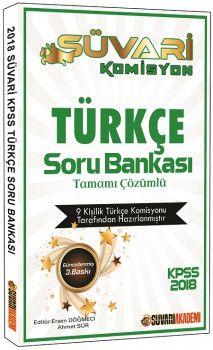 Süvari Akademi 2018 KPSS Süvari Komisyon Türkçe Tamamı Çözümlü Soru Bankası